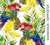 tropical background. seamless...   Shutterstock . vector #334918724