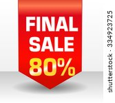 vector final sale banner | Shutterstock .eps vector #334923725