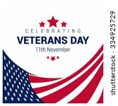 happy and free veterans day... | Shutterstock .eps vector #334925729