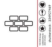 bricks  brickwork  masonry  ... | Shutterstock .eps vector #334927469