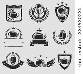 football labels and icons set.... | Shutterstock .eps vector #334930235