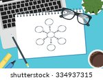 vector drawing business process ... | Shutterstock .eps vector #334937315