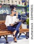 young beautiful business woman...   Shutterstock . vector #334940831