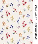 trendy seamless floral ditsy... | Shutterstock .eps vector #334944965