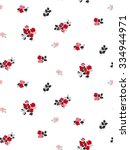 trendy seamless floral ditsy... | Shutterstock .eps vector #334944971