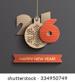 creative happy new year 2016... | Shutterstock .eps vector #334950749