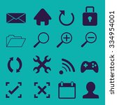 web icons set | Shutterstock .eps vector #334954001