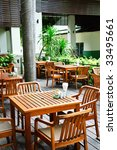 tables and chairs of street cafe | Shutterstock . vector #33495661