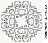 flower knot  mandala  celtic... | Shutterstock .eps vector #334958165