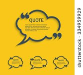 quote line cloud speech bubbles ... | Shutterstock .eps vector #334959929
