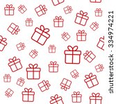 seamless white pattern with red ... | Shutterstock .eps vector #334974221