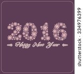 happy new year 2016 greeting... | Shutterstock .eps vector #334976399