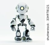 unique robot with big circle... | Shutterstock . vector #334978121
