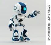 unique robot character robot... | Shutterstock . vector #334978127