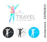 traveler. modern  colourful... | Shutterstock .eps vector #334983815