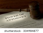 focus on power of attorney | Shutterstock . vector #334984877