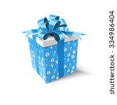 christmas gift. new year... | Shutterstock .eps vector #334986404