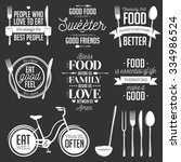 set of vintage food related... | Shutterstock .eps vector #334986524