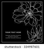 vector natural floral frame... | Shutterstock .eps vector #334987601