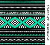 black  white and green tribal... | Shutterstock .eps vector #334988471