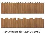 Illustration Wooden Fence...
