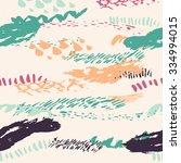 vector boho seamless pattern... | Shutterstock .eps vector #334994015