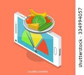 calorie counter flat isometric... | Shutterstock .eps vector #334994057