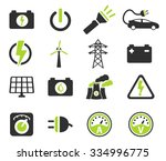 electricity simply symbols for... | Shutterstock .eps vector #334996775