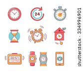 types of alarms clocks  timers... | Shutterstock .eps vector #334996901