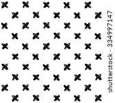monochrome cross seamless... | Shutterstock .eps vector #334997147