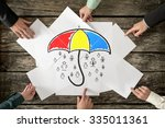 safety and life insurance... | Shutterstock . vector #335011361