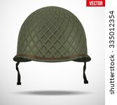 military us green helmet... | Shutterstock .eps vector #335012354