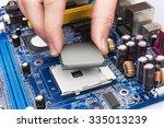 electronic circuit board ...   Shutterstock . vector #335013239