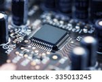 electronic circuit board with... | Shutterstock . vector #335013245