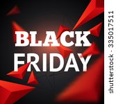 template for black friday sale. ... | Shutterstock .eps vector #335017511
