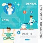 dental infographics of vector... | Shutterstock .eps vector #335021621