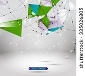 abstract polygonal background.... | Shutterstock .eps vector #335026805