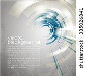 techno vector circle abstract... | Shutterstock .eps vector #335026841