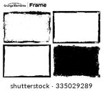 grunge frame texture set  ... | Shutterstock .eps vector #335029289