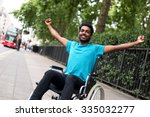 Disabled Man In A Wheelchair...
