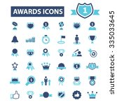 awards  achievement  trophy ... | Shutterstock .eps vector #335033645