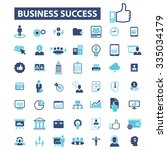 business training  icons  signs ... | Shutterstock .eps vector #335034179