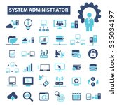 system administrator  computer... | Shutterstock .eps vector #335034197