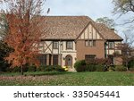 English Tudor Home In Fall