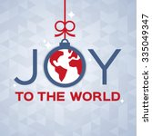 joy to the world decorative... | Shutterstock .eps vector #335049347