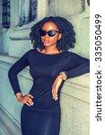 african american woman casual... | Shutterstock . vector #335050499