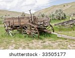 Dilapidated Wooden Wagon With...