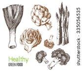hand drawn vegetables. vector...   Shutterstock .eps vector #335056535