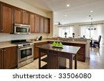 angled view from within kitchen ... | Shutterstock . vector #33506080