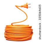 orange electric cable isolated... | Shutterstock . vector #335064605